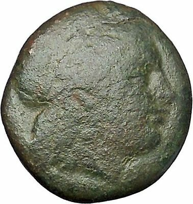 Kolophon in Ionia  350BC RARE Ancient Greek Coin Apollo Cult Horse man i47278