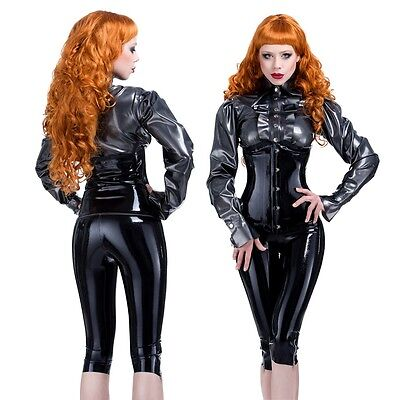 R1650 Latex Busk front Corset Clincher *Red or Black* RRP £98.73 - £118.47