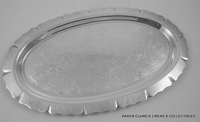 """Vintage 5th Ave Silverplate 9 1/2"""" Oval Calling Card Tray"""