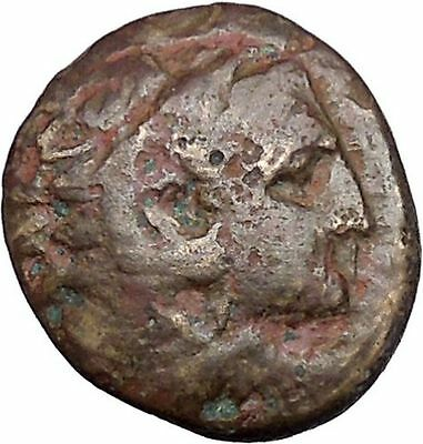 Alexander III the Great as Hercules 336BC Ancient Greek Coin Bow Club i47292