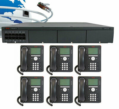 Avaya IP500 V2 Digital VoIP Phone System Package w/6 9508 Phones & Voicemail