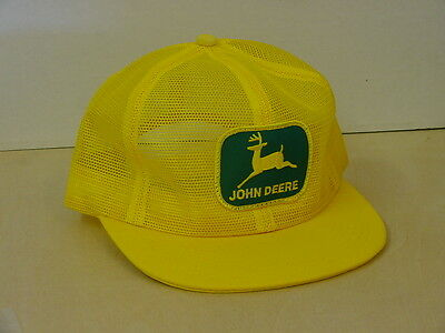 John Deere Yellow Adult Cap, All Mesh, With Patch, New