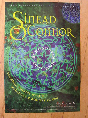 SINEAD O'CONNOR Warfield Concert poster 1997 13x19