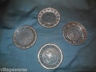 Set of Four Fine Pressed Glass Cup Plates from the Late 1800s Early 1900s