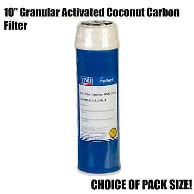 "10"" Granular Activated Coconut Carbon Filter - High Capacity - Packs of 1, 2, 3"