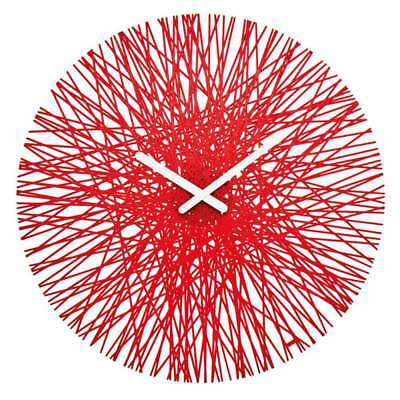Koziol Silk Wall Clock Cristal-Controlled Timeless Design Transp. Red 2328536