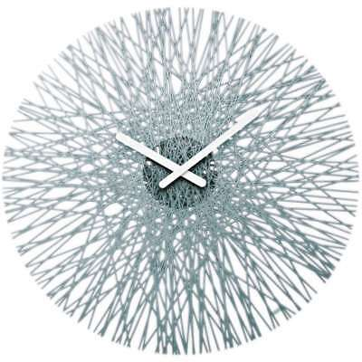 Koziol Silk Wall Clock, Cristal-Controlled, Transparent Anthracite, 2328540