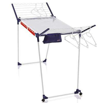 Leifheit Drying Rack Pegasus 200 Deluxe Mobile with Wheels, Drying length 20 m
