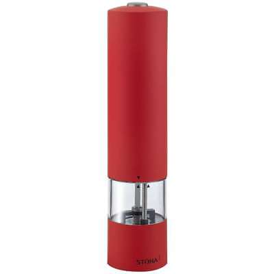 Stoha Electrical Salt-/Peppershaker Soft, Plastic, 21 cm with Light, Red, 55501