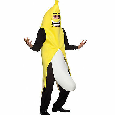 Upgraded Fun Adult Unisex Banana Suit Yellow Costume One Size Fancy Dress Party