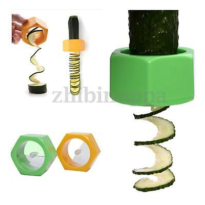 Kitchen Accessories Cooking Tools Vegetable Fruit Cucumber Spiral Slicers NEW