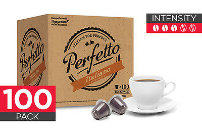 NEW Perfetto Coffee Capsules 100 Pack Nespresso Compatible Italiano