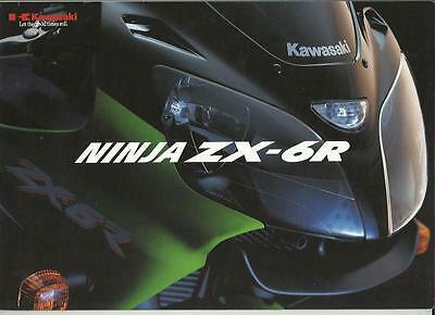 KAWASAKI NINJA ZX-6R MOTORBIKE SALES BROCHURE EARLY 2000's