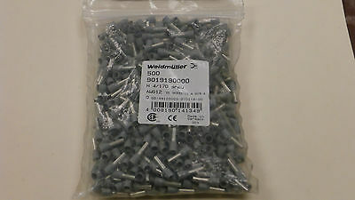 Weidmuller 9019190000 New Gray Wire End Ferrules (Qty 500) 12 AWG