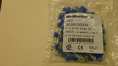 Weidmuller 9026100000 New Blue Wire End Ferrules (14 AWG) QTY 479