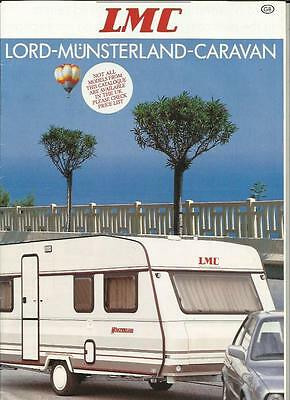 Lord Munsterland Caravan Luxus And Dominant Sales Brochure 1990 + Prices