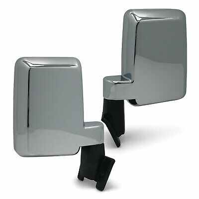 Door Mirrors PAIR Chrome Large Fits Toyota Landcruiser 60 Series 80-90