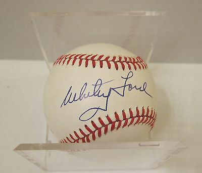 Whitey Ford Hall Of Famer New York Yankees  Autographed   Baseball