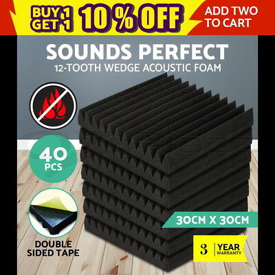 20 x Studio Acoustic Foam Corner Bass Trap Sound Absorption Treatment Proofing