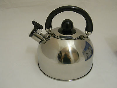 Stainless Steel Whistling Kettle 2.5L New Kitchen Caravan Camping Parts Accessor