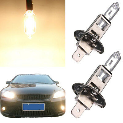 2 x H1 55W White Halogen Headlight Car Driving Fog Light Lamp Bulb DC 12V