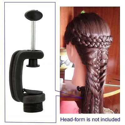 Mannequin Training Head Stand Holder Wig Stand Head Clamp Plastic Extension Tool