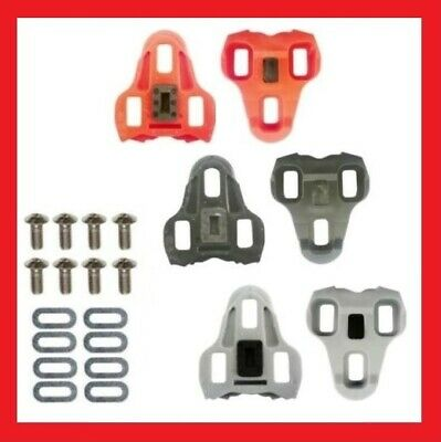 ROTO LOOK KEO COMPATIBLE ROAD BIKE PEDAL CLEATS (Black - Grey - Red)
