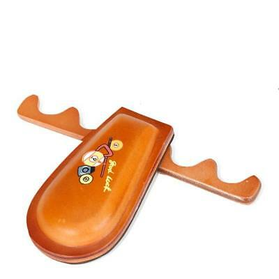 Portable Billiards Pool Snooker Cue Holder Rack Foldable holds 4 Cues Brown New
