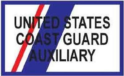 U.S. Coast Guard Auxiliary Rectangular Patch