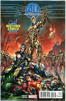 Age Of Ultron #1 J Scott Campbell Midtown Nyc Retail Variant Nm Marvel Movie