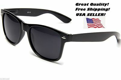 1 Black Blues Brother Style Jazz Retro Shades Sunglasses Glasses 80's