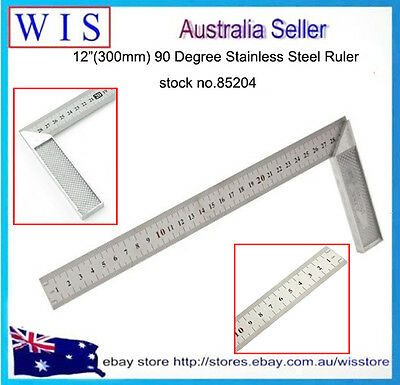 300mm Multifunction 90° Stainless Steel L-Square Angle Square Ruler Silver-85204