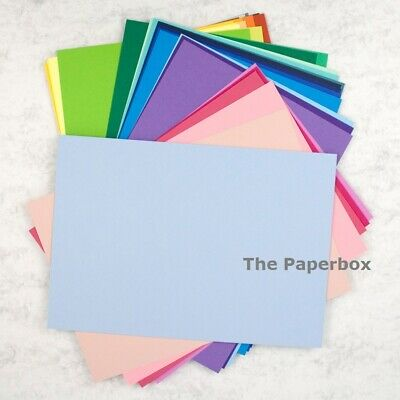 A4 Coloured Craft Card, matte, double sided, 240gsm. Choose a colour & pack size