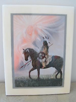 Bill Rabbit Tile Art Picture Native American Cherokee USA Plaque