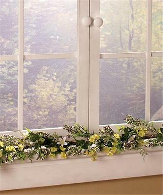 """DECORATIVE WELCOME SPRING SUMMER 50""""L GARLAND FLOWERS GREENERY HOME DECOR-PRETTY"""