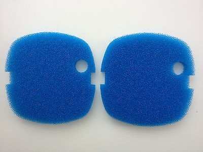 2 x SunSun HW-302 Externe Filter Media Bleu Gros Mousse Pads Filtres