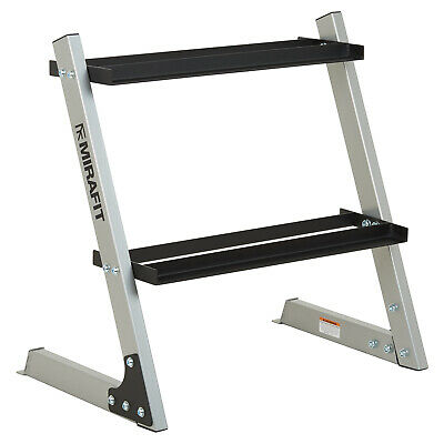"Mirafit 150kg 26"" 2 Tier Hex Dumbbell Weight Rack Storage Stand/Holder Dumbell"
