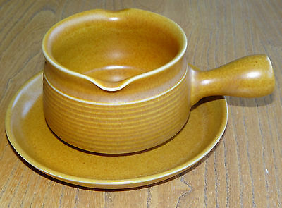 Denby Langley Gravy or Sauce Boat & Stand Saucer or Underplate - CANTERBURY