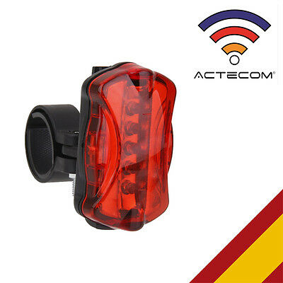 Actecom® Luz Trasera Led Para Fat Bike Bicicleta 6 Modos Luces Seguridad