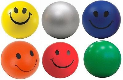 Smiley Face Anti Stress Reliever Ball Foam Sponge ADHD Autism Mood Toys Squeeze