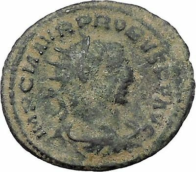 Probus  receiving globe from Jupiter 276AD Authentic Ancient  Roman Coin i47644