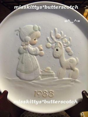 Precious Moments~PLATE~520284~Reindeer~DATED 1988~V=$65