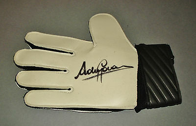 Andy Goram Signed Goalkeeper Glove Genuine Glasgow Rangers PROOF Autograph + COA