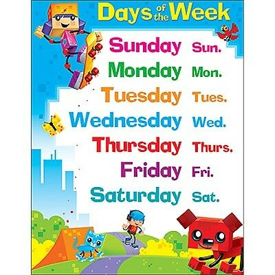 Days of the Week BlockStars!™ Learning Chart - Classroom Display Poster