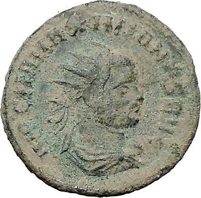 Maximian receiving Victory from Jupiter  Authentic Ancient Roman Coin i47655