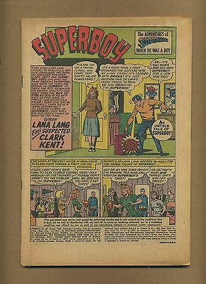 Superboy 87 Coverless o/w complete! (PG-GD $13) Solid! DC, 1961 (c#00566)
