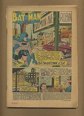 Batman 100 Missing front cover o/w complete! (PG-GD $300) Solid! 1956 (c#00521)