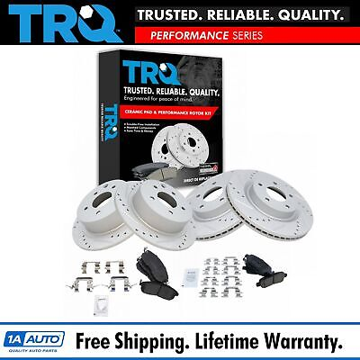 Nakamoto Rotor & Brake Pad Ceramic Performance Drilled Slotted Front Rear Kit