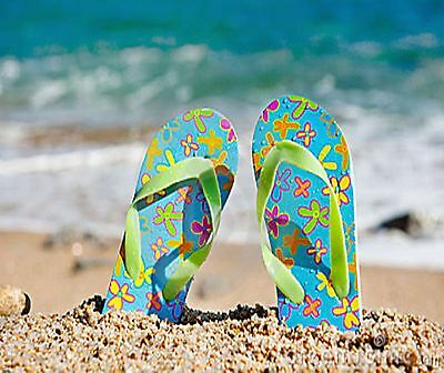 Flip Flops On The Beach Summer Time Fun  Image Computer Mouse Pad 9 X 7