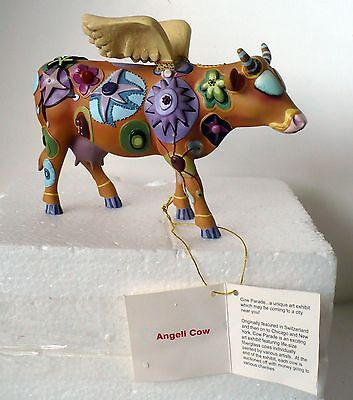 2000 Cow Parade Angeli Cow Figurine #9127 Box W/tag
